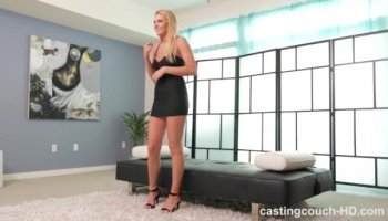 Appealing teen gal looks in her softcore play